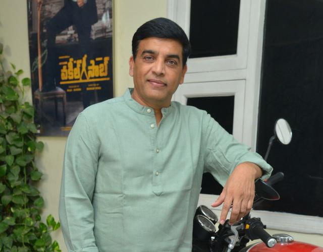 Dil Raju Stills from Vakeel Saab Interview