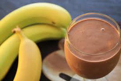 Banana vanilla chocolate Milkshake Recipe