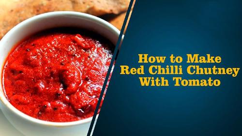 Red Chilli Tomato Pachadi