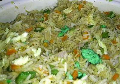 Capsicum Egg Fried Rice