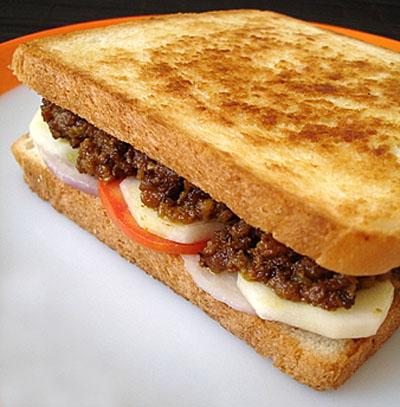 Keema Bread Sandwich