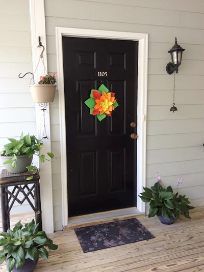 I Like Decorating Our Entrance Door Every Season And Because To Keep Changing The Look Dont Invest Much In Bought Items My Hands