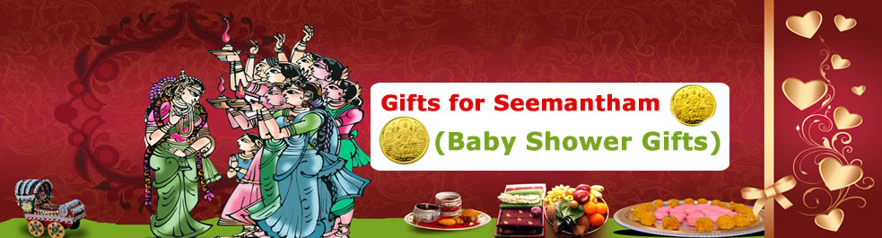 Seemantham Gifts For Her Send To India Hyderabad And Ap